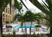 Pool, pool deck, and spa - Condo for sale at 750 N Tamiami Trl #1108, Sarasota, FL 34236 - MLS Number is A4190640