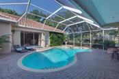 Courtyard pool - so private! - Single Family Home for sale at 2972 Jeff Myers Cir, Sarasota, FL 34240 - MLS Number is A4424133